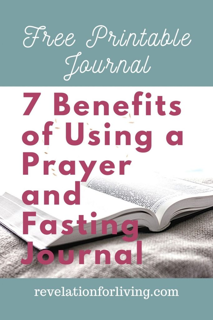 Free Printable Prayer and Fasting Journal